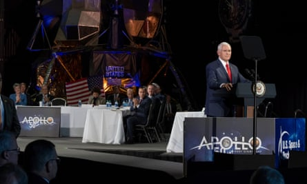 Mike Pence addresses the National Space Council