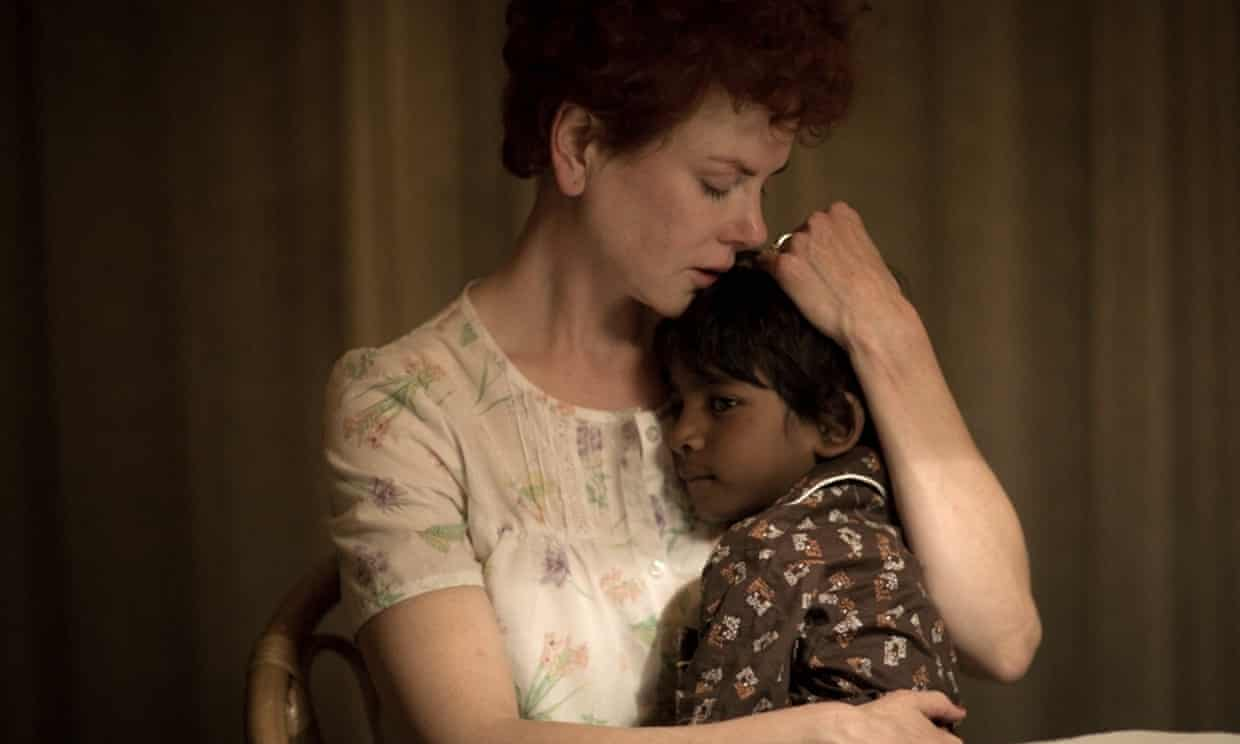 'I wanted to capture, I suppose,  just the goodness': Nicole Kidman and Sunny Pawar as Sue Brierley and the young Saroo in Lion.