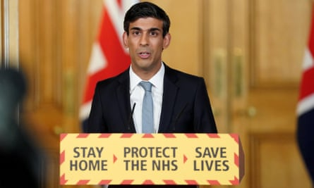 Chancellor Rishi Sunak at the Downing Street press conference in April.