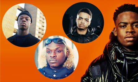 Composite of J Hus, Sneakbo, Loski and Not3s.