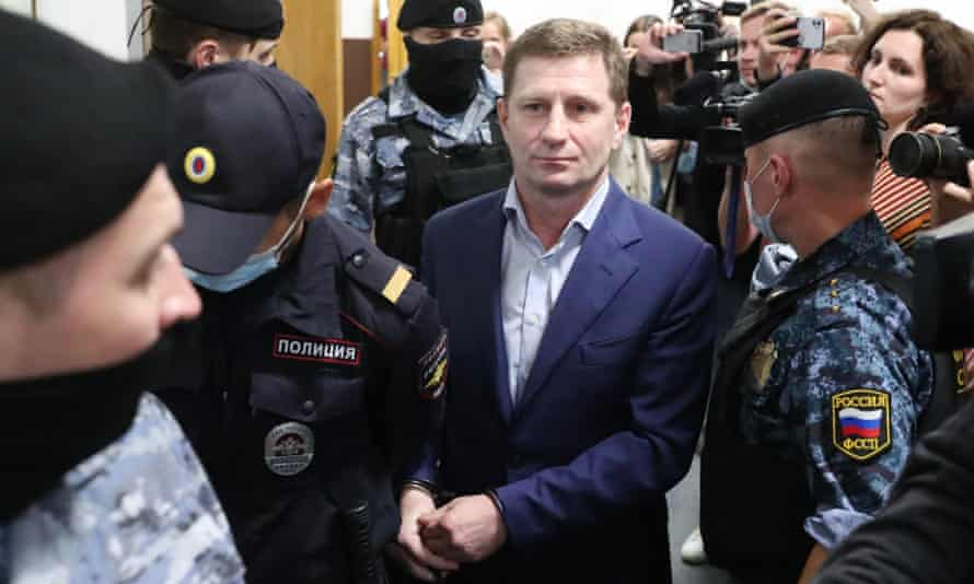 Sergei Furgal, former governor of the Khabarovsk Territory, charged with masterminding murders of two local businessmen.