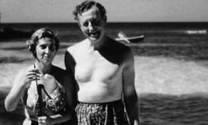 Blanche Blackwell and Ian Fleming.