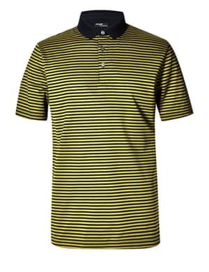 yellow stripe polo shirt