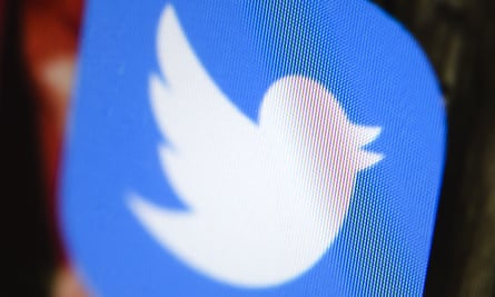 Twitter logo on a screen