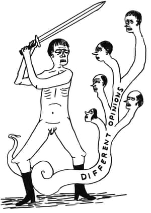 different opinions by David Shrigley