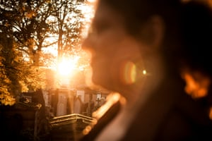 Bataclan survivor Dominique in a park