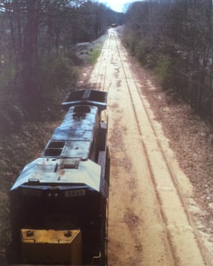 A freight train on the Atlanta BeltLine Southside before the rails were taken up