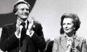 Michael Heseltine and Margaret Thatcher in Brighton in 1982