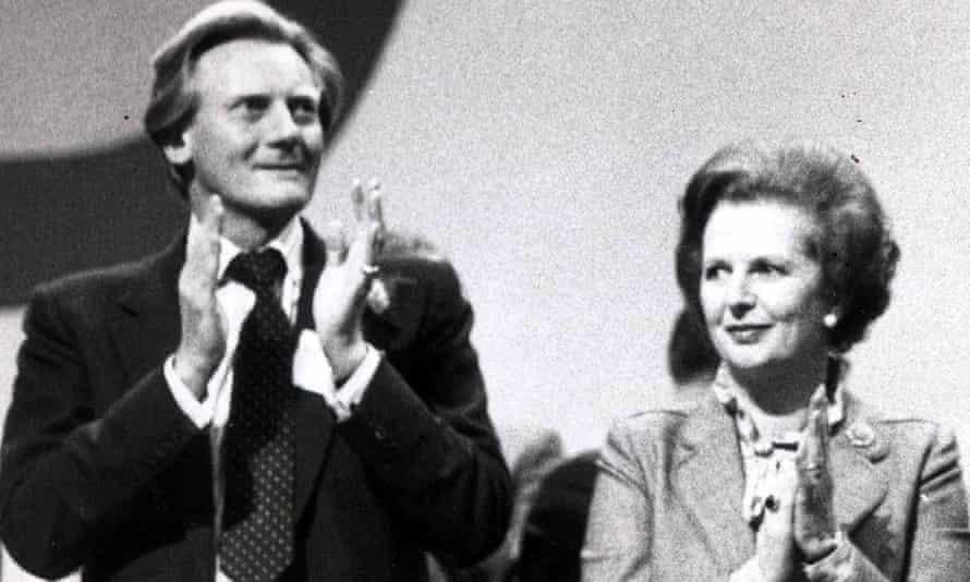 Michael Heseltine and Margaret Thatcher in Brighton in 1982
