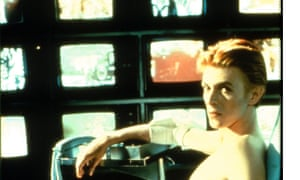 The Man Who Fell to Earth - 1976. David Bowie was an expert manipulator of media - be it music, art or video