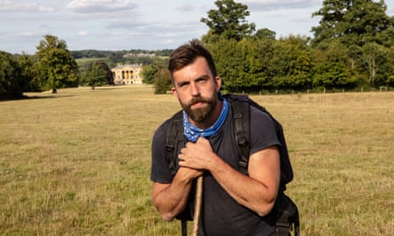 Nick Hayes in the grounds of Basildon Park.
