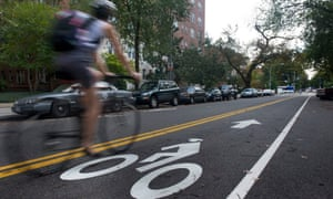 A cycle lane in Washington DC