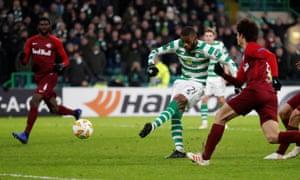 Celtic's Olivier Ntcham pulls a goal back.