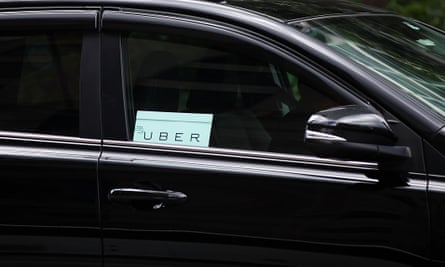 An Uber taxi in New York