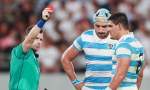 Nigel Owens sends off Tomás Lavanini with Argentina trailing only 5-3