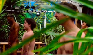 'We don't want shrinkage' … Naked Boys Singing! at the Garden theatre.