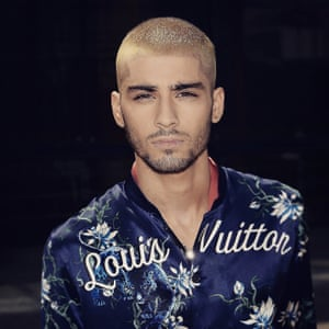 <strong>June</strong> It's unlike Zayn to be attention-seeking with the regular celeb FROWers, but when he showed up at the Louis Vuitton menswear show in Paris this summer, he broke hearts in his sponsored outfit and new, statement blonde 'do.