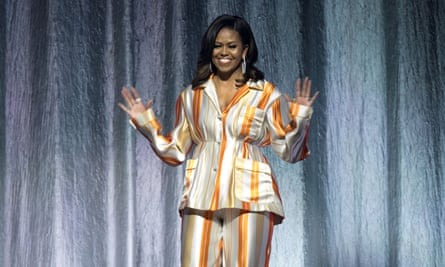 Former first lady Michelle Obama in Paris to promote her memoir Becoming.