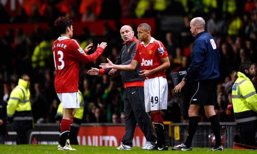Ravel Morrison comes on as a substitute against Wolves in 2010 for his Manchester United debut.