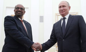Bashir with Russian president Vladimir Putin in 2018.