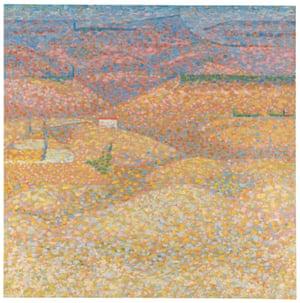 Pink Landscape, 1960, by Bridget Riley.