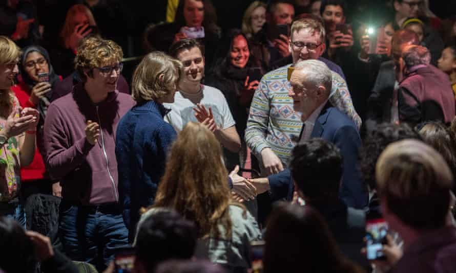 Jeremy Corbyn at the launch of the party's youth manifesto at Loughborough Students' Union on 22 November.