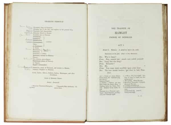 Olivier's working copy of Hamlet.