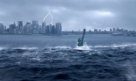 Hell and high water … a scene from director Roland Emmerich's 2004 disaster movie The Day After Tomorrow.  Photograph: Alamy