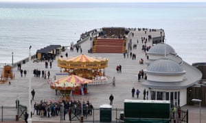 The new pier at Hastings, which replaces the one that was gutted by fire in 2010.