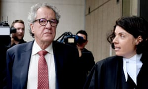 Geoffrey Rush outside the supreme court in Sydney in April. News Corp was ordered to pay $850,000 to Rush after the court found it defamed him in a front-page article.