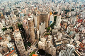aerial view of Sao Paulo's financial district