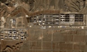 A new satellite image of a Uighur internment camp in China's Xinjiang region.