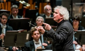 Simon Rattle conducts the world premiere of Helen Grime's Woven Space with the London Symphony Orchestra at Barbican Hall, London.