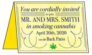 illustration of cannabis party invitation