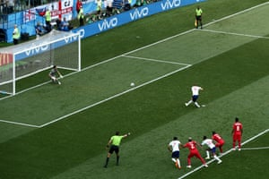 Kane smashes home the penalty.