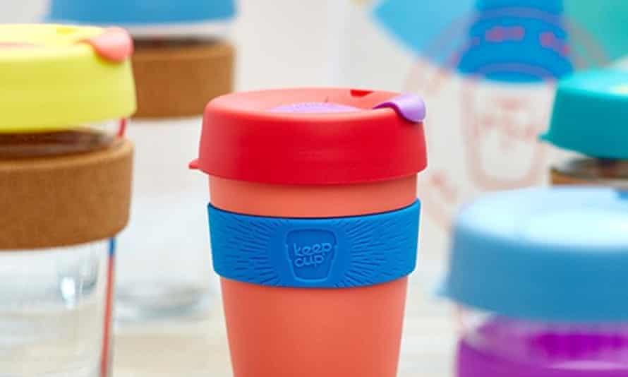 Reusable coffee cups.