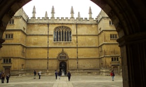 The quad outside the Bodleian Library in Oxford