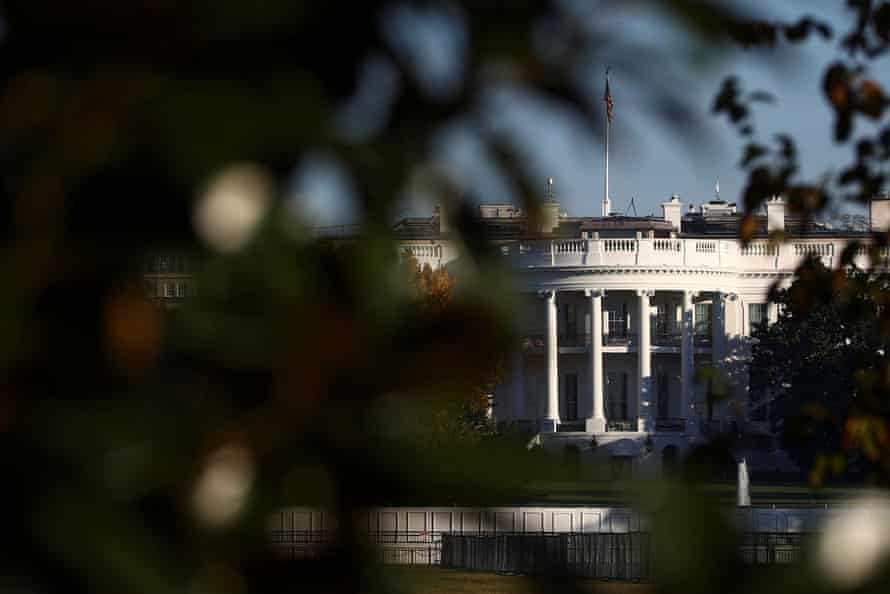The White House is seen, as vote counting continues in the 2020 U.S. presidential election, in Washington, U.S., November 7, 2020.