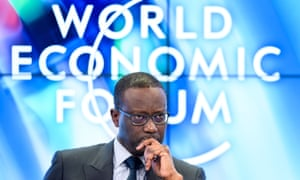 Tidjane Thiam, CEO of Credit Suisse, at the World Economic Forum 2018 in Davos, Switzerland.