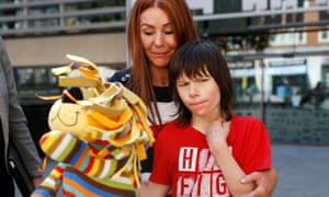 Charlotte and Billy Caldwell outside the Home Office.