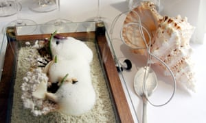 'Sound of the Sea', one of The Fat Duck's famous dishes, which comes complete with iPod and conch shell.