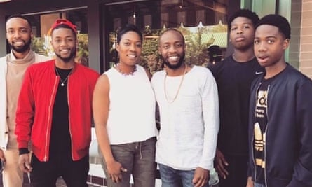 Mysia Hamilton with her five sons