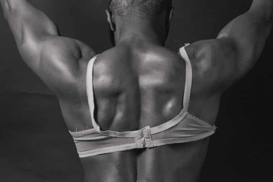 Bodybuilder in Bra, 1990.