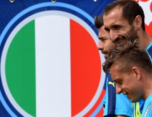 Italy's squad during training.