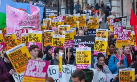 Unity Demonstration against Fascism and Racism, London, UK - 17 Nov 2018