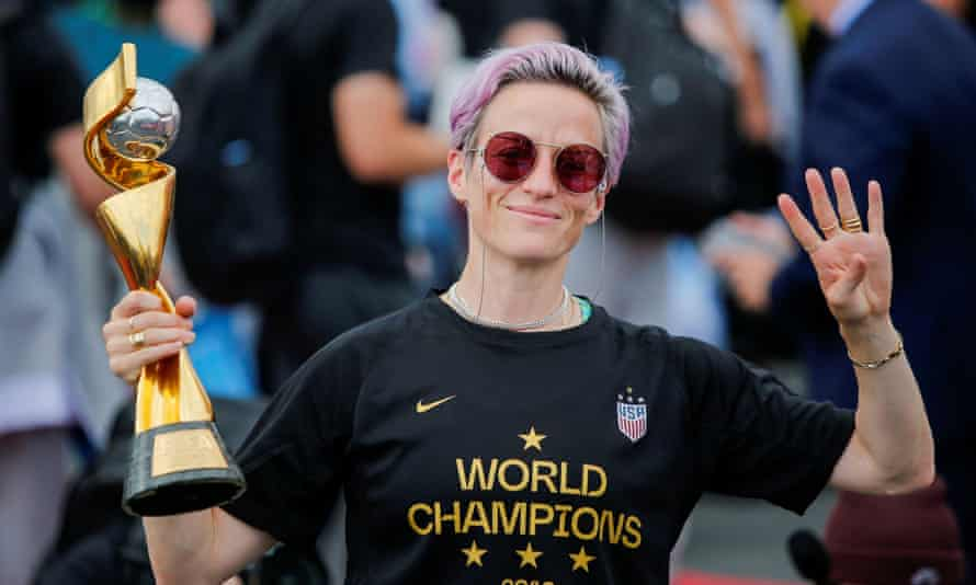 Megan Rapinoe: 'I'm proud to endorse Elizabeth Warren today, for being bold, for being real, for listening to ALL of us, and for being prepared to navigate the unique challenges we face today as a country.'