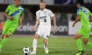 Andrés Iniesta playing for Vissel Kobe. The World Cup winner has already made a sizeable impact in his new home.