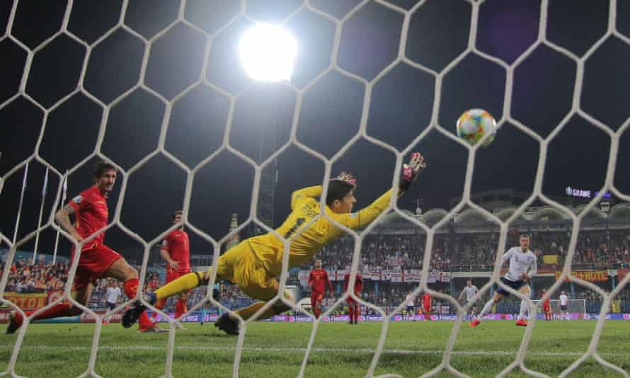 Ross Barkley scores his second and England's third goal in Podgorica.