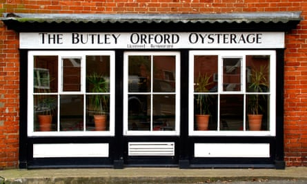 The Butley Orford Oysterage restaurant in Orford Suffolk.