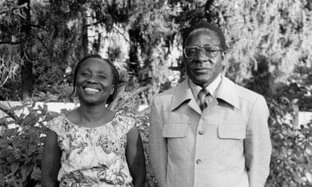 Sally and Robert Mugabe in 1985.